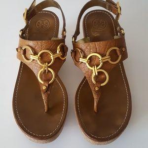 94c476d0084ed Tory Burch Chain link Wedge Sandals